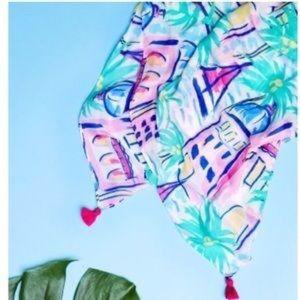 Stella & Dot - Pareo Scarf/Wrap - Palm City print